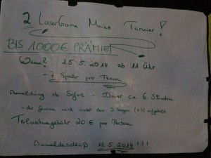 2. Lasertag Turnier in Mainz